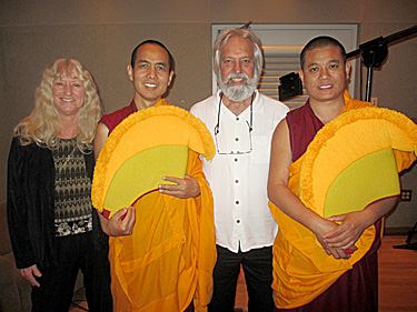 Earl and Gail with Tibetan Monks